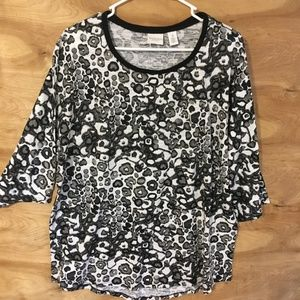 Weekends Chico's women's sz 3 Large  3/4 slv shirt